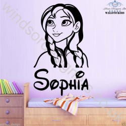 Rockstar Personalised Any Name, Wall Sticker, Transfer, DECAL WallArt Kids Bed