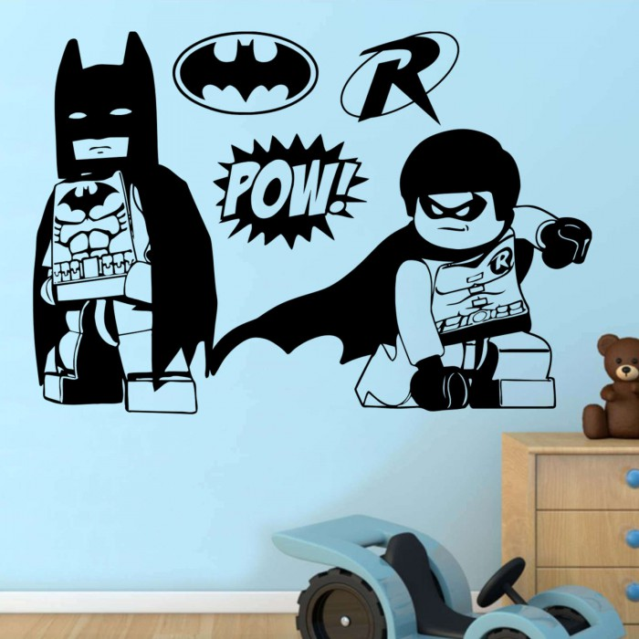 Batman And Robin Lego Heroes Wall Sticker Transfer Decal 4 Sizes Available  ... Part 94