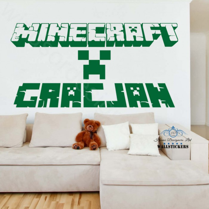 Minecraft personalised name wallsticker transfer