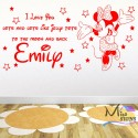 TINKERBELL Personalised NAME Sticker wall art Transfer (any name)