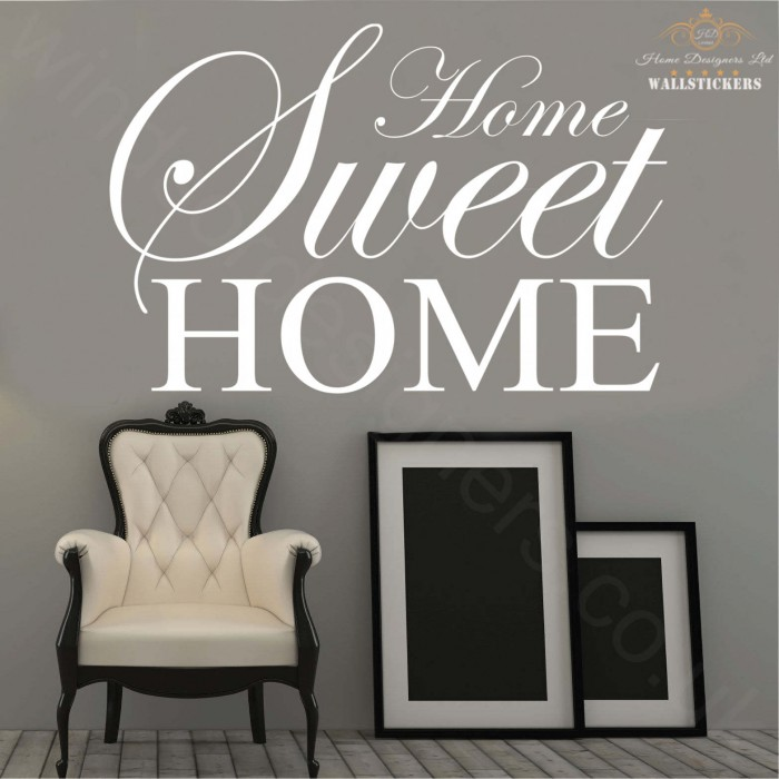 Home sweet home wall sticker quote quotes on sweets for Home sweet home quotes