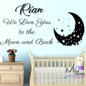 your WALL STICKER NAME GIRL BOY BEDROOM design wall Transfer