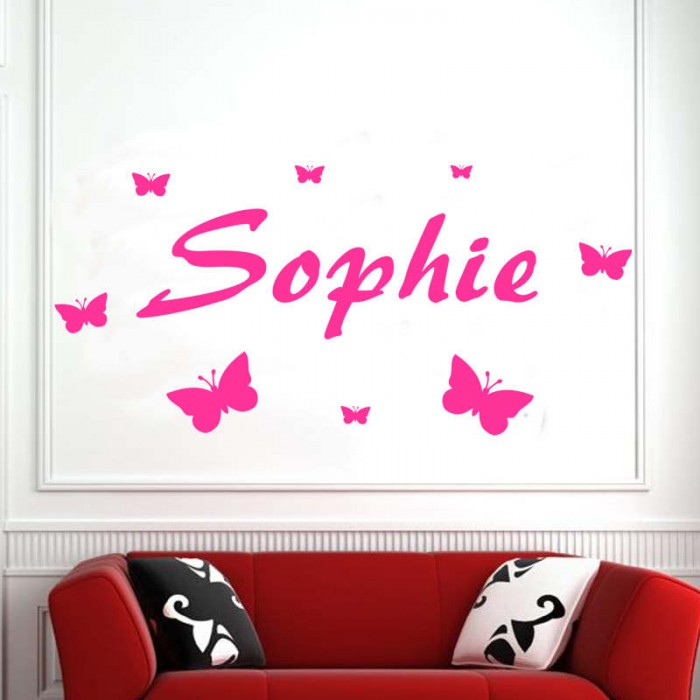 your wall sticker name girl boy bedroom design wall transfer car name wall sticker for boys room