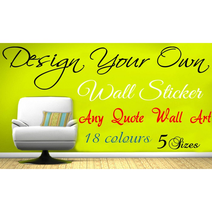 Design Your Own Wall Art Quote Text Name Sticker Words ... Part 89