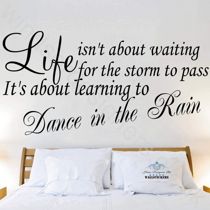 Wall Art Quotes Dance In The Rain : Wall sticker quotes dance in like no one