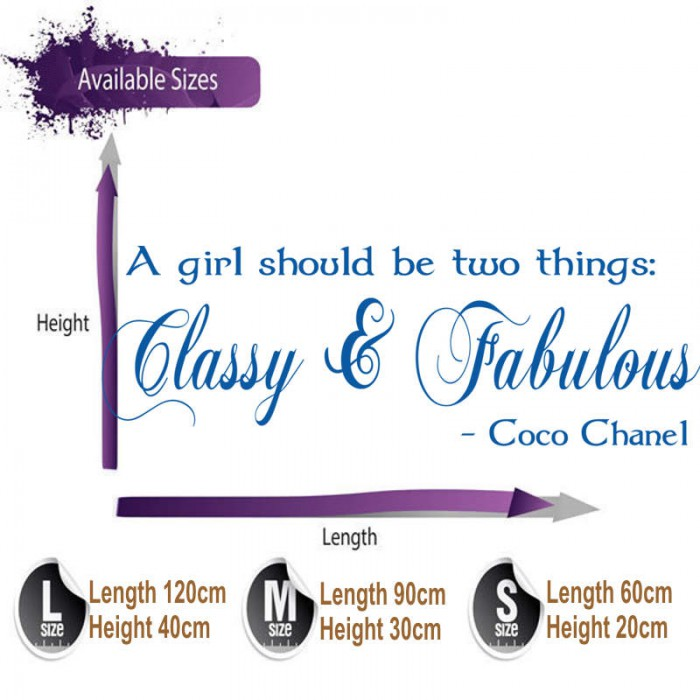 classy and fabulous coco chanel wall sticker