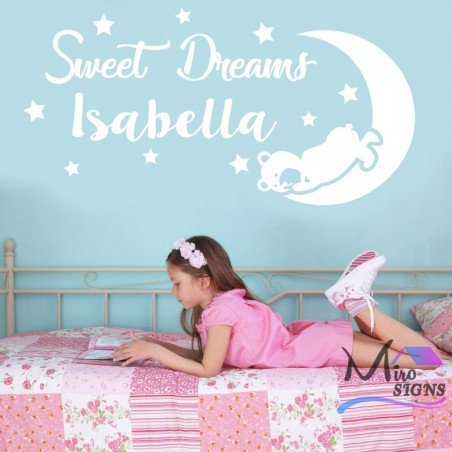 Personalised Fairy Princess Castle Wall Sticker your baby name on sticker
