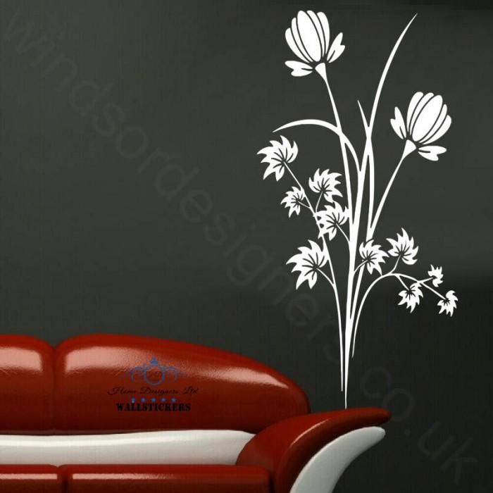 flowers lounge ornament sticker wall art mural decal
