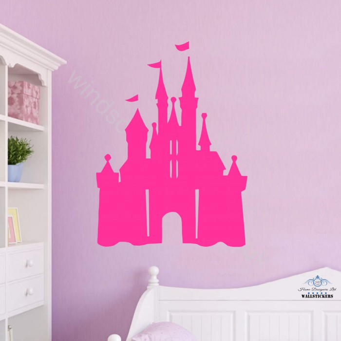 Disney castle wall sticker for Castle wall mural sticker