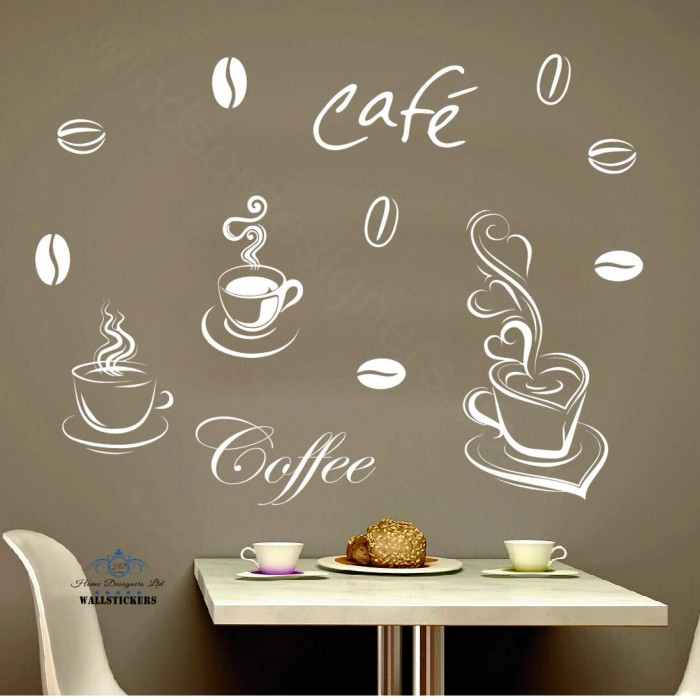 ... COFFEE SET Wall Art DECAL STICKER KITCHEN Decor 33 ...