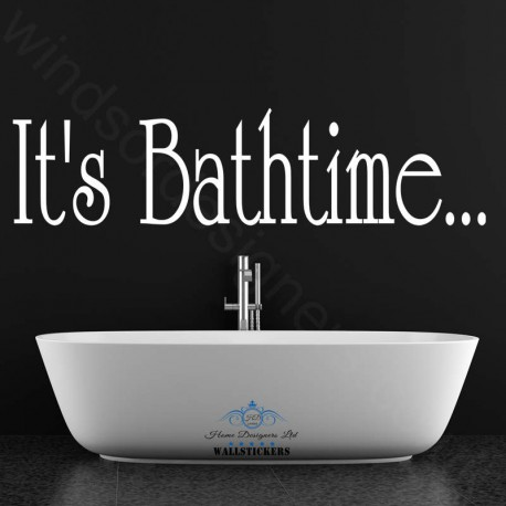 ITu0027S BATHTIME Bathroom WALL ART QUOTE Sticker Ba1 Part 60
