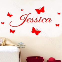 WALL STICKER your NAME GIRL BOY BEDROOM design 3 sizes