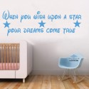 When you wish upon a star dream wall sticker Design transfer print