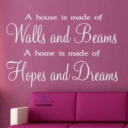 Walls and Beams, Hopes and Dreams wall art sticker decor Large design Quote