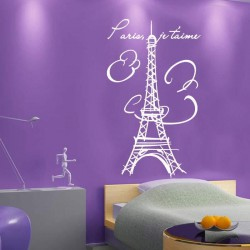 EIFFEL TOWER PARIS FRENCH WALL STICKER DECAL je taime