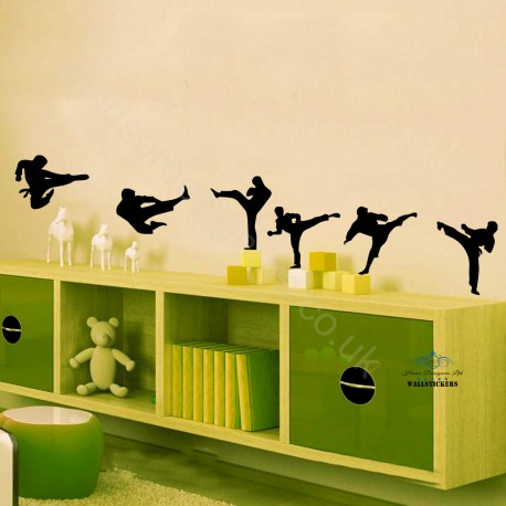 6 Karate Martial arts wall stickers Wall Vinyl Decals