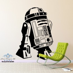 STAR WARS - R2D2 Droid Robot Vinyl Wall Art Sticker Bedroom Kids Boys Room Decal