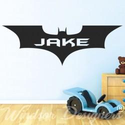 BATMAN Personalised Name Superhero Logo. Vinyl Wall Art Sticker Decal Silhouette