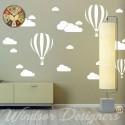 Clouds & Hot Air Balloons Nursery Kids Childs Room Vinyl Wall Art Sticker Decal