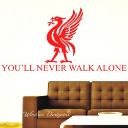 Liverpool FC Football Logo Mural Vinyl Wall Art Sticker You'll Never Walk Alone