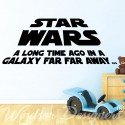 STAR WARS - A Long Time Ago Quote Vinyl Wall Art Sticker Bedroom Kids Room Decal