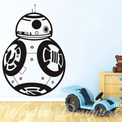 STAR WARS - BB8 Droid Robot Vinyl Wall Art Sticker Bedroom Kids Boys Room Decal