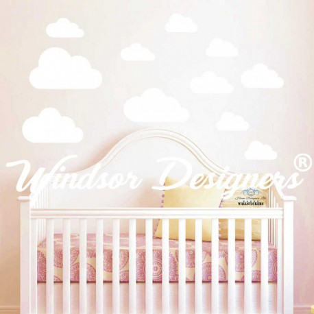 Cloud Wall Sticker Decals Kids Nursery Children Room 10 pieces10 clouds