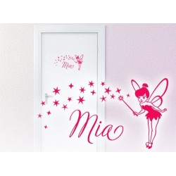Fairy Door Sticker with Stars and Name of your choice
