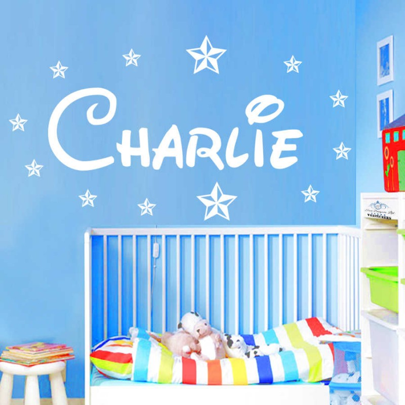 Name Wall Stickers Disney Font GIRLS BOYS Style STARS Huge 90 cm Personalised