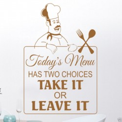 Todays Menu has two choices...