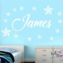 Personalised Name with Stars