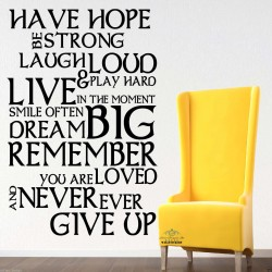 Have Hope Be Strong Laugh...
